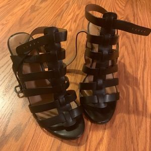 Lucky Brand Black Strap Wedge